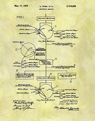 1955 Neutronic Reactor Patent Poster by Dan Sproul