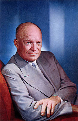 1955 President Dwight D Eisenhower Poster by Historic Image