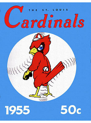 1955 St. Louis Cardinals Yearbook Poster