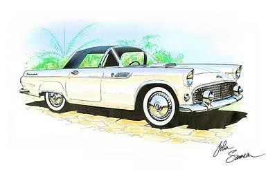 1955 Thunderbird Painting Poster
