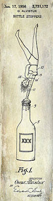 1956 Bottle Stopper Patent Poster by Jon Neidert