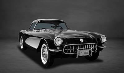1956 C1 Chevrolet Corvette  -  4co Poster