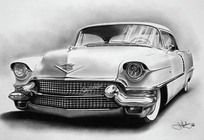 1956 Cadillac Drawing Poster