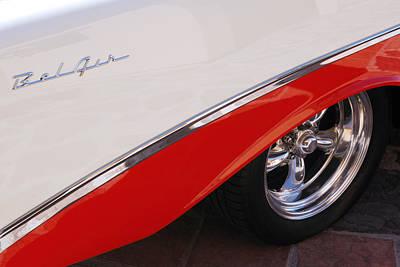 1956 Chevrolet Belair Convertible Wheel Poster by Jill Reger