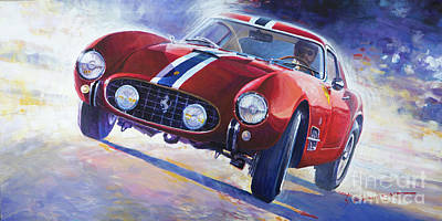 1956 Ferrari 250 Gt Berlinetta Tour De France Poster by Yuriy Shevchuk
