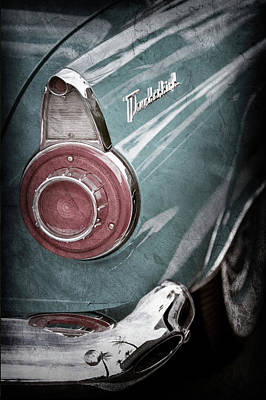 Poster featuring the photograph 1956 Ford Thunderbird Taillight Emblem -0382ac by Jill Reger