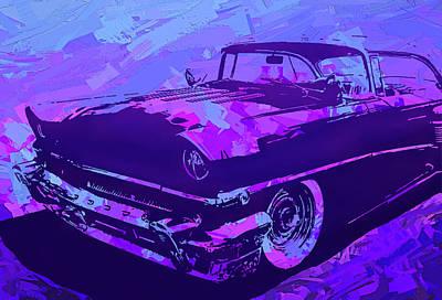 1956 Mercury Hardtop Custom Pop Violet Poster