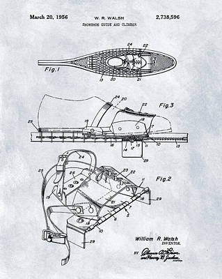 1956 Snowshoe Patent Poster