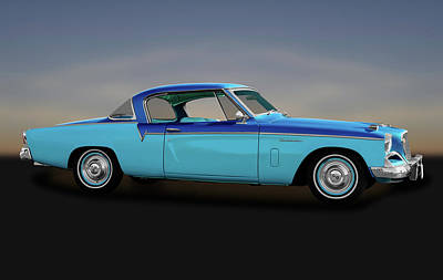 Poster featuring the photograph 1956 Studebaker Sky Hawk Coupe  -  1956studebakerskyhawk170517 by Frank J Benz