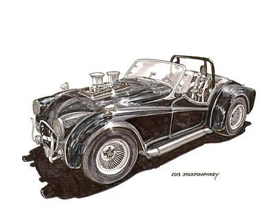1956 Triumph Street Rod Poster by Jack Pumphrey