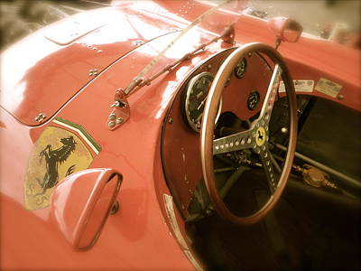 1956 Type Lancia Ferrari D50a Cockpit Poster by John Colley