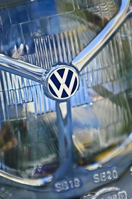 1956 Volkswagen Vw Bug Head Light Poster
