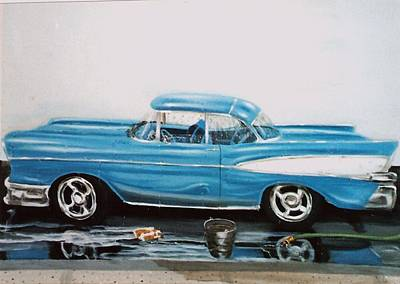 1957 Bel Air Poster by Susan Roberts