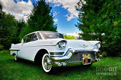 Poster featuring the photograph 1957 Cadillac by Mark Miller