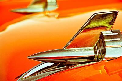 1957 Chev Bel Air Hood Fins Poster