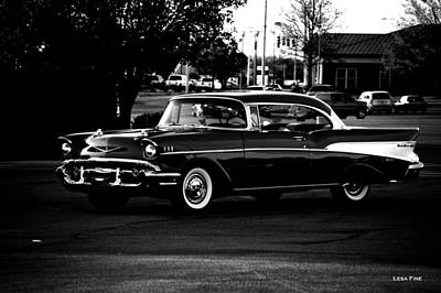 1957 Chevrolet Bel Air Bw Poster by Lesa Fine