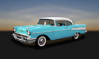 1957 Chevrolet Bel Air Sport Coupe   -   57chspcp260 Poster by Frank J Benz