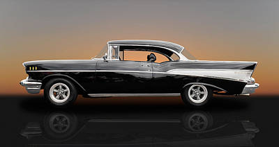1957 Chevrolet Bel Air Sport Coupe - V1 Poster by Frank J Benz