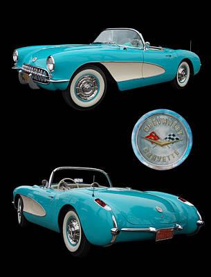 1957 Chevrolet Corvette Poster by Bill Dutting