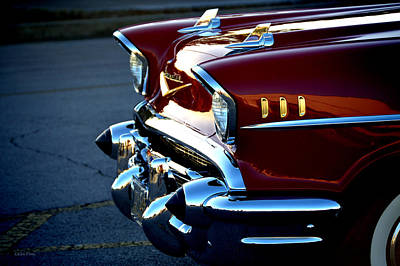 1957 Chevrolet Lipstick Red Poster