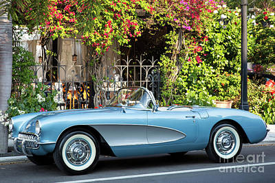 Poster featuring the photograph 1957 Corvette by Brian Jannsen