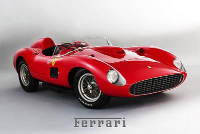 1957 Ferrari 335 S Spider Scaglietti. Poster by Mohamed Elkhamisy