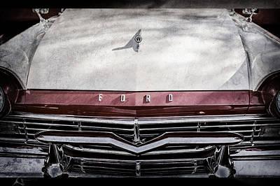 1957 Ford Custom 300 Series Ranchero Grille Emblem -0465ac Poster by Jill Reger
