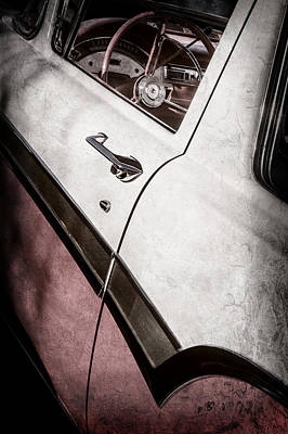 1957 Ford Custom 300 Series Ranchero Steering Wheel -0549ac Poster by Jill Reger