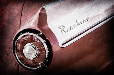 1957 Ford Custom 300 Series Ranchero Tail Light Emblem -1090ac Poster by Jill Reger