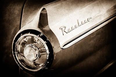 1957 Ford Custom 300 Series Ranchero Tail Light Emblem -1090s Poster by Jill Reger