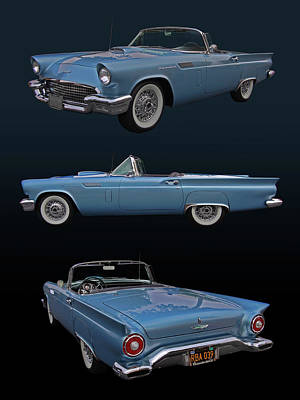 1957 Ford Thunderbird Poster by Bill Dutting