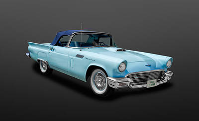 1957 Ford Thunderbird Convertible  -  57birdcv888 Poster by Frank J Benz