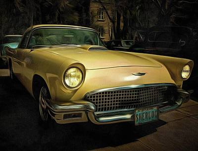1957 Ford Thunderbird Jewel Poster by Thom Zehrfeld