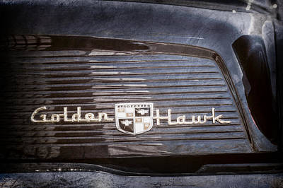 1957 Studebaker Golden Hawk Supercharged Sports Coupe Emblem -0756ac Poster by Jill Reger