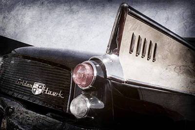 1957 Studebaker Golden Hawk Supercharged Sports Coupe Taillight Emblem -0733ac Poster by Jill Reger