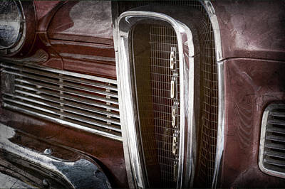 1958 Edsel Pacer Grille Emblem -0018ac Poster by Jill Reger