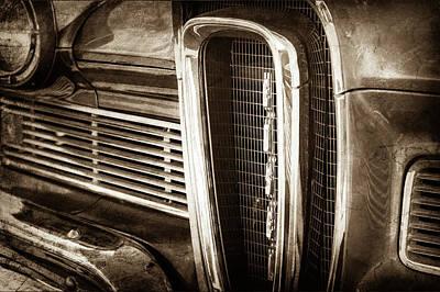 1958 Edsel Pacer Grille Emblem -0018s Poster by Jill Reger