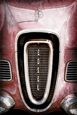 1958 Edsel Roundup Grille Emblem - Hood Ornament -0451ac Poster by Jill Reger
