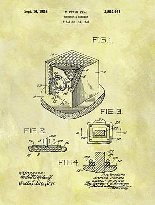 1958 Neutronic Reactor Patent Poster