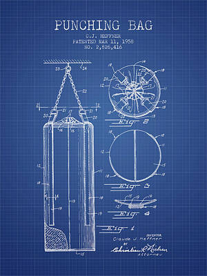 1958 Punching Bag Patent Spbx14_bp Poster by Aged Pixel