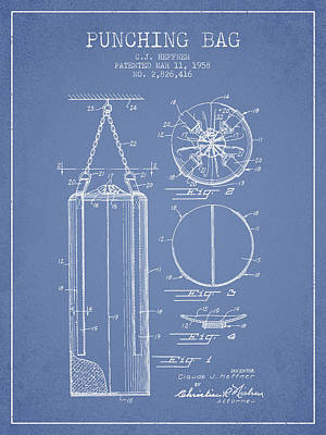 1958 Punching Bag Patent Spbx14_lb Poster by Aged Pixel