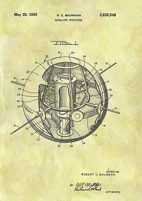 1958 Satellite Patent Poster