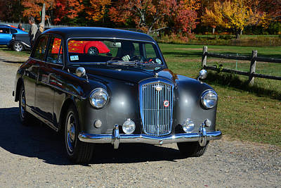 1958 Wolseley Six Ninety Poster by Mike Martin