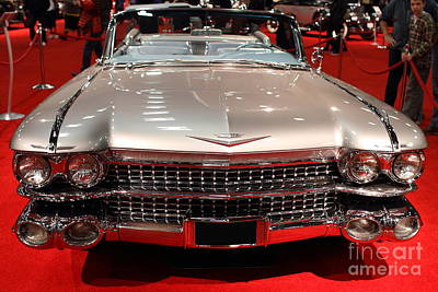 1959 Cadillac Convertible . Front View Poster by Wingsdomain Art and Photography