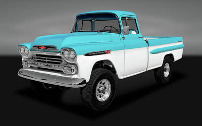 Poster featuring the photograph 1959 Chevrolet Apache 36 Fleetside   -   1959chevroletapachenapcogry170564 by Frank J Benz