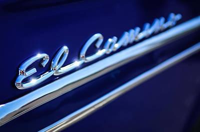 1959 Chevrolet El Camino Emblem -0008c Poster by Jill Reger