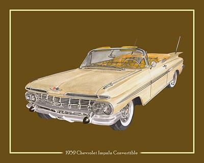 1959 Chevrolet Impala Convertible Poster by Jack Pumphrey