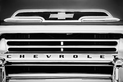 1959 Chevrolet Napco Fleetside Grille Emblem -1634bw Poster by Jill Reger