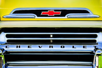 1959 Chevrolet Napco Fleetside Grille Emblem -1634c Poster by Jill Reger