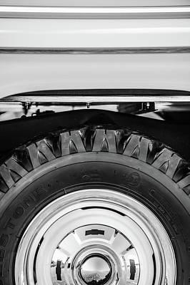 1959 Chevrolet Napco Fleetside Wheel -1583bw Poster by Jill Reger